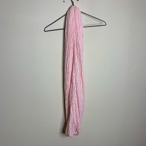 Garage Accessories - Long Soft Light Pink Infinity Scarf Lace Pattern